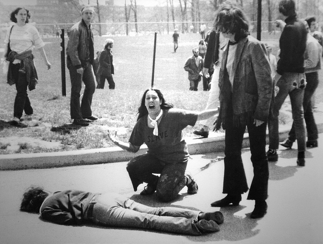 Mary Ann Vecchio Kneeling over the Body of Jeffrey Miller at the Kent State University Massacre