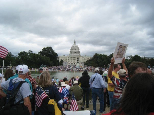 Tea Party supporters during their