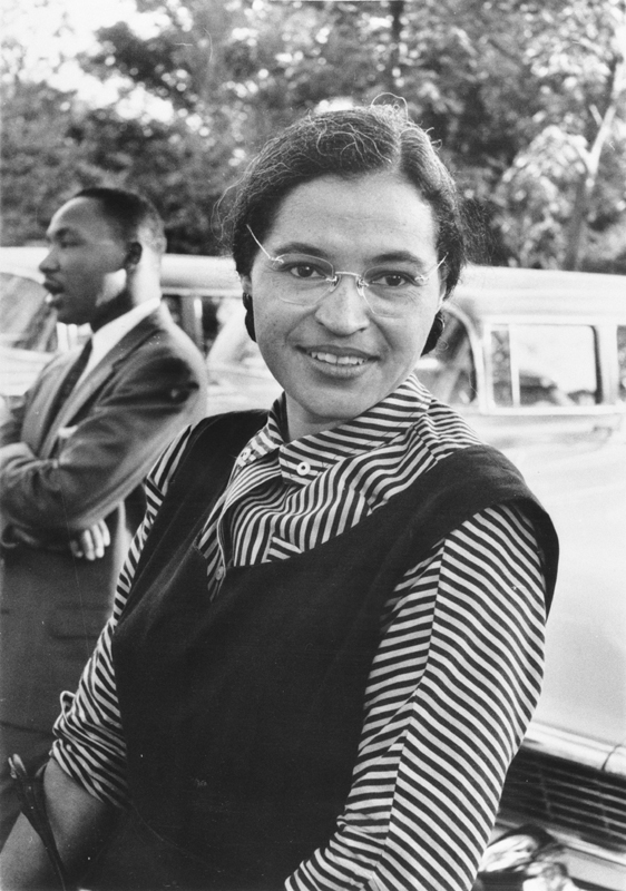 Rosa Parks with Reverend Doctor Martin Luther King Jr.