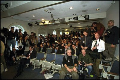 A press briefing in the White House
