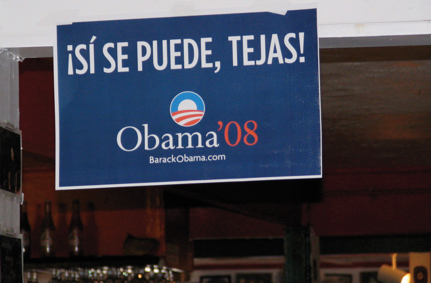 2008 Barak Obama ad catered to the Latino American population. It says: