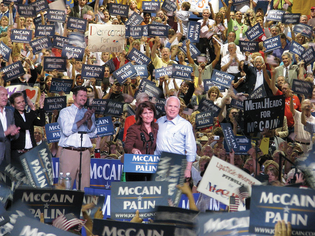 John McCain and Sarah Palin on tour during their Campaign Trail in 2008