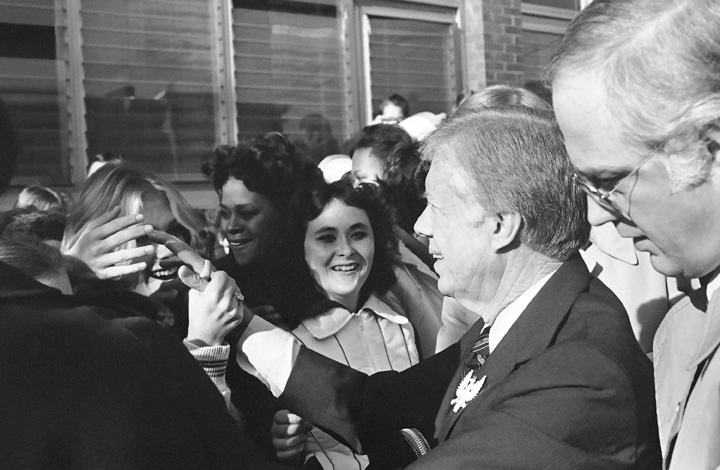 Jimmy Carter Campaigning in the 1980 Presidential Campaign