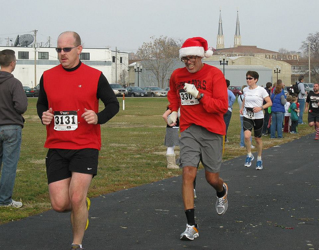 Participants of the Jingle Bell 5k run