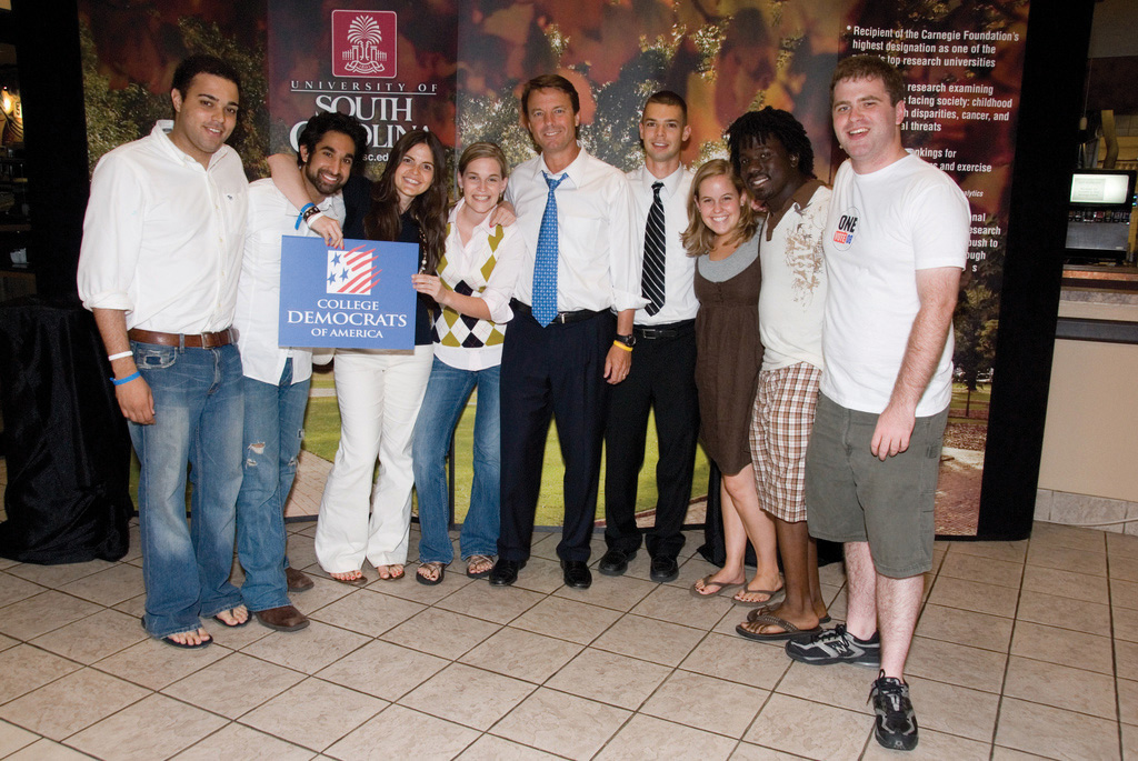 A group of college democrats