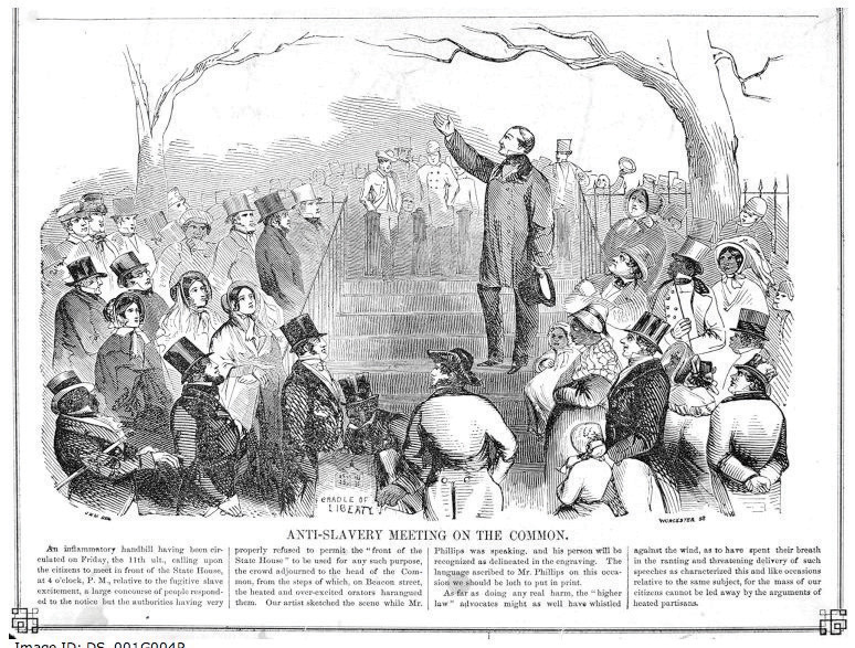 Anti-slavery meeting on the common