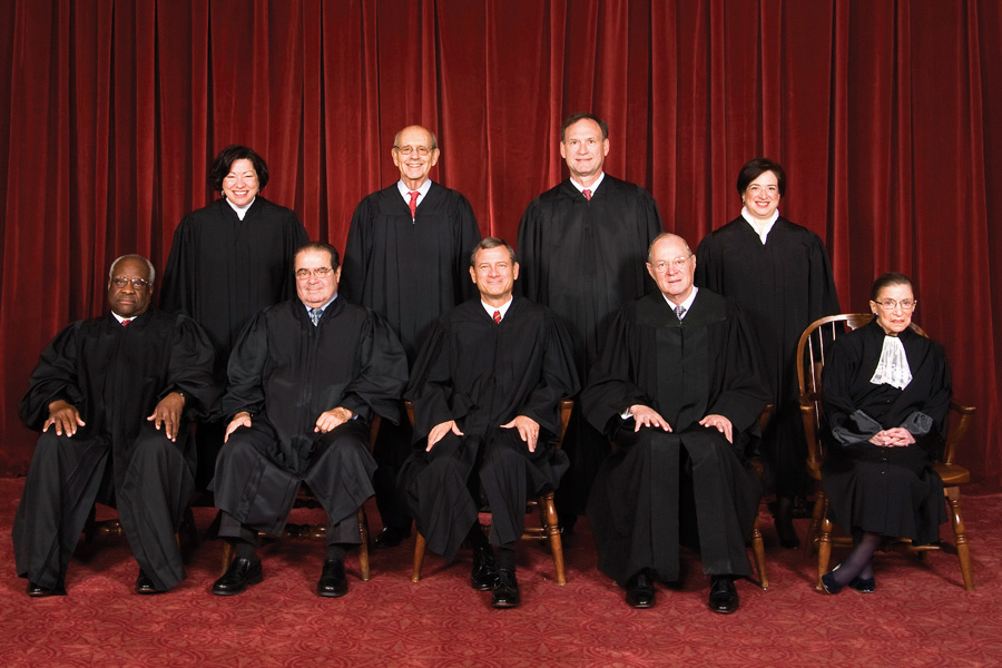 Official Photo of the Supreme Court Justices