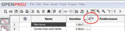 Reduce Size of Start and End Columns