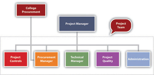 The procurement manager is part of the project team