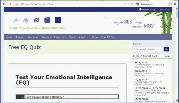 Institute for Health and Human Potential homepage
