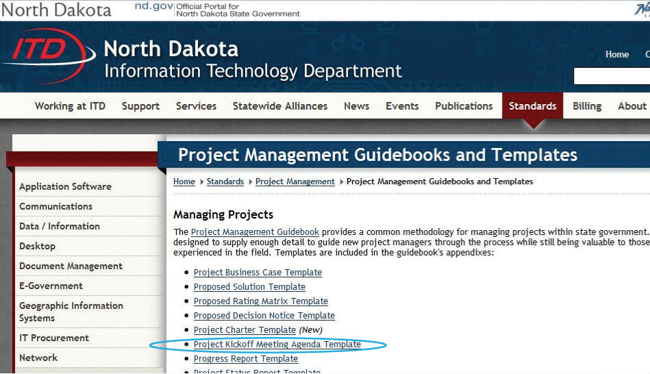 North Dakota Projects from the North Dakota Information Technology Department website