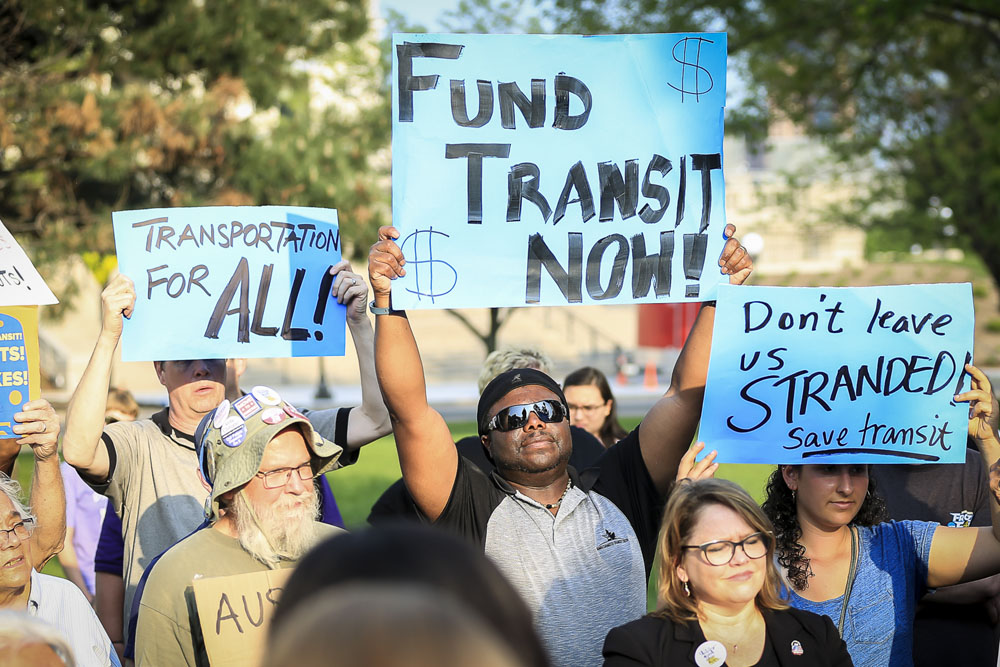 Twin Cities residents advocating for equitable transit. Thai Phan-Quang, photographer.