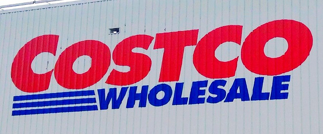 The outside of Costco