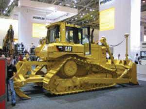 A Caterpillar construction Bulldozer