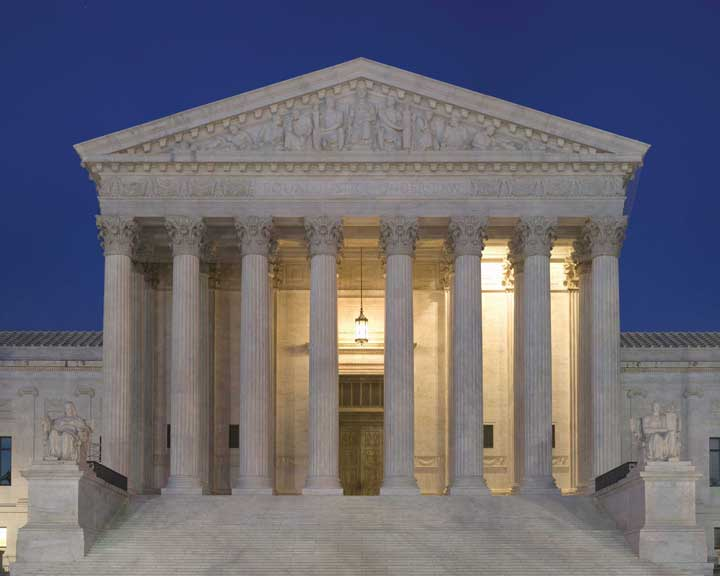 Supreme Court, front of building
