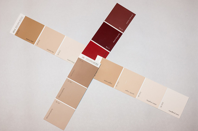 Paint sample strips