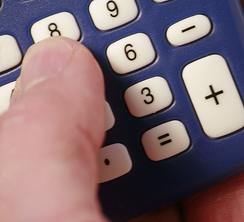 A calculator used for calculating finances