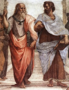 "The earliest psychologists were the Greek philosophers Plato (left) and Aristotle. Plato believed that much knowledge was innate, whereas Aristotle thought that each child was born as an ""empty slate"" and that knowledge was primarily acquired through learning and experience."