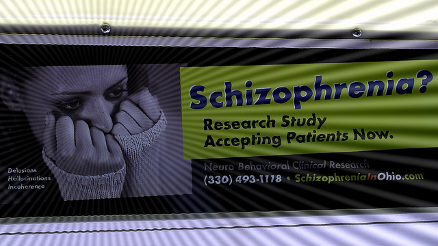 Schizophrenia awareness billboard