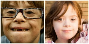 a young boy and young girl with down syndrome