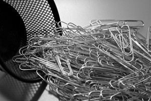 A big pile of paper clips