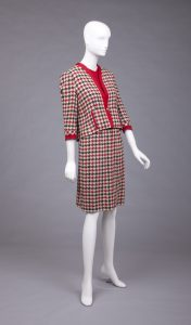 Chanel hound's tooth pattern suit, 1955