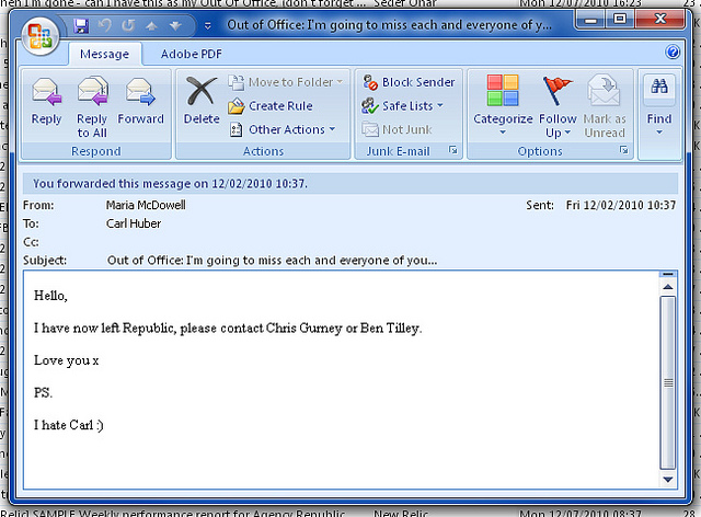 A screen shot of a confusing email. It wraps up with