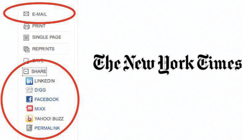 The New York Times website screenshot