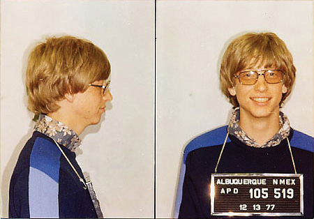 Young Bill Gates mug shot