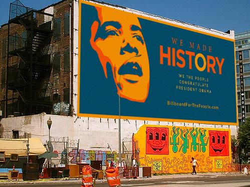 Obama's Billboard in New York