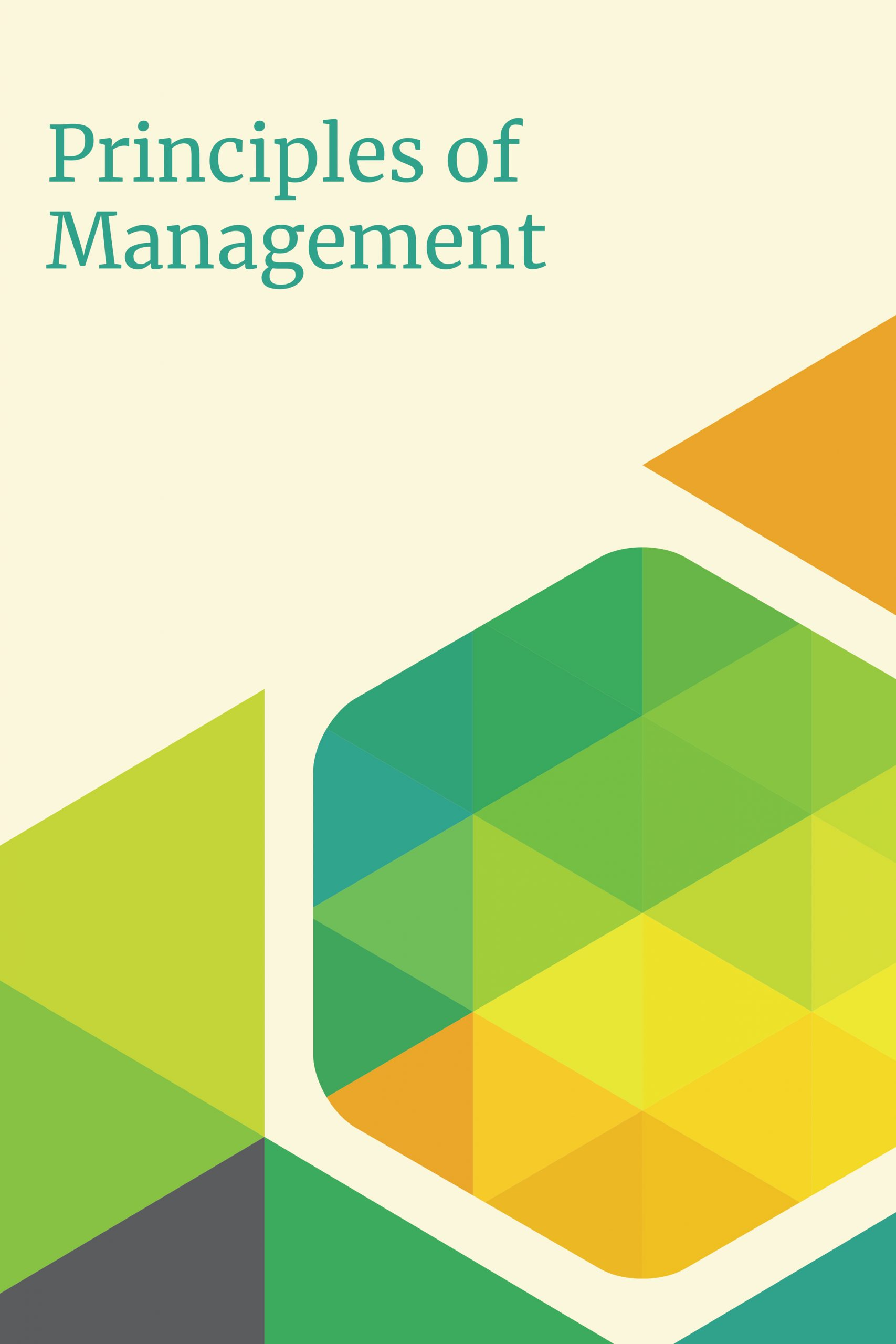 Cover image for Principles of Management