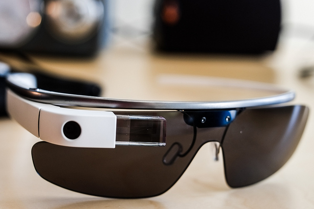 A pair of google glass