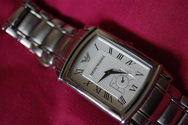 An expensive Emporio Armani watch