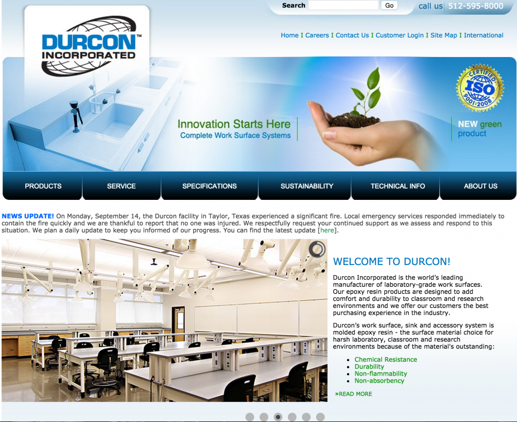 Duncan Incorporated website screen shot