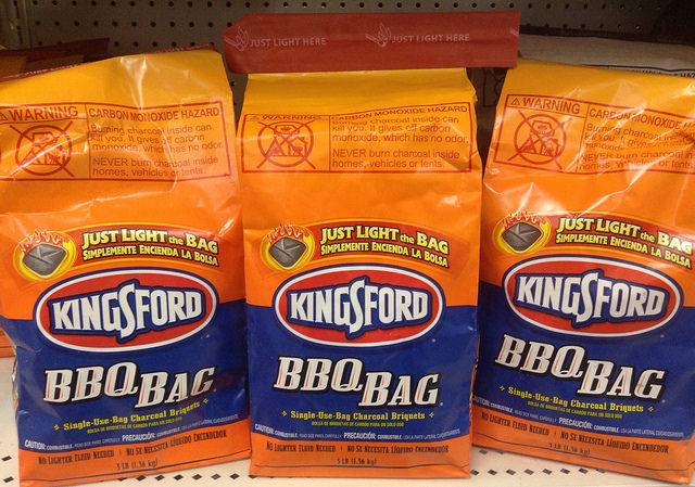 Three bags of Kingsford charcoal