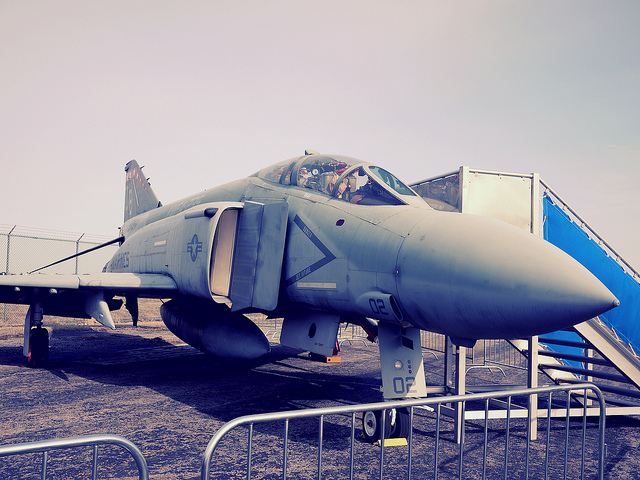 An old fighter jet at the MAPS Air Museum