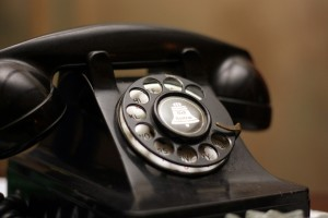 An old spin dial phone