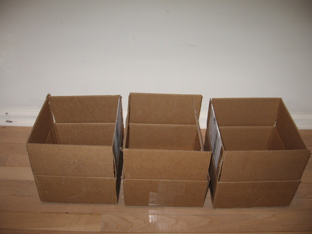 Three Empty Boxes