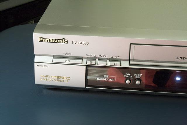 A Panasonic VCR