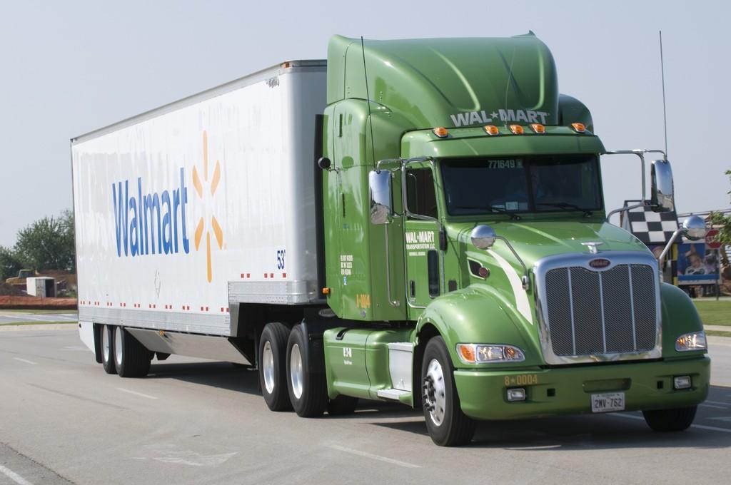 A Walmart semi-truck