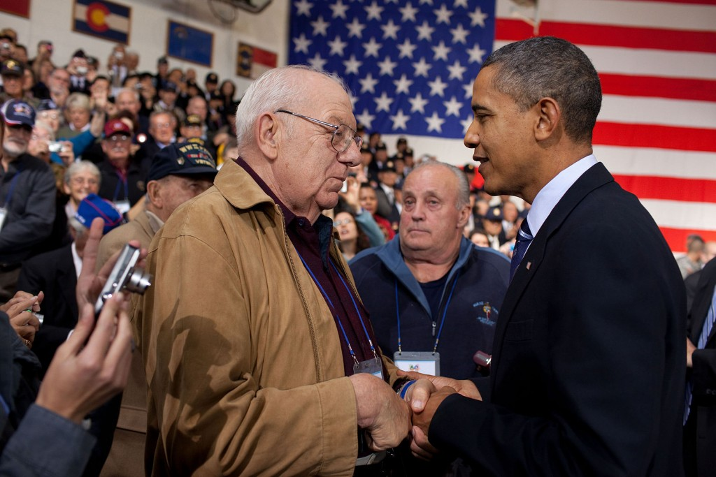 Obama and Hector Cafferata shaking hands