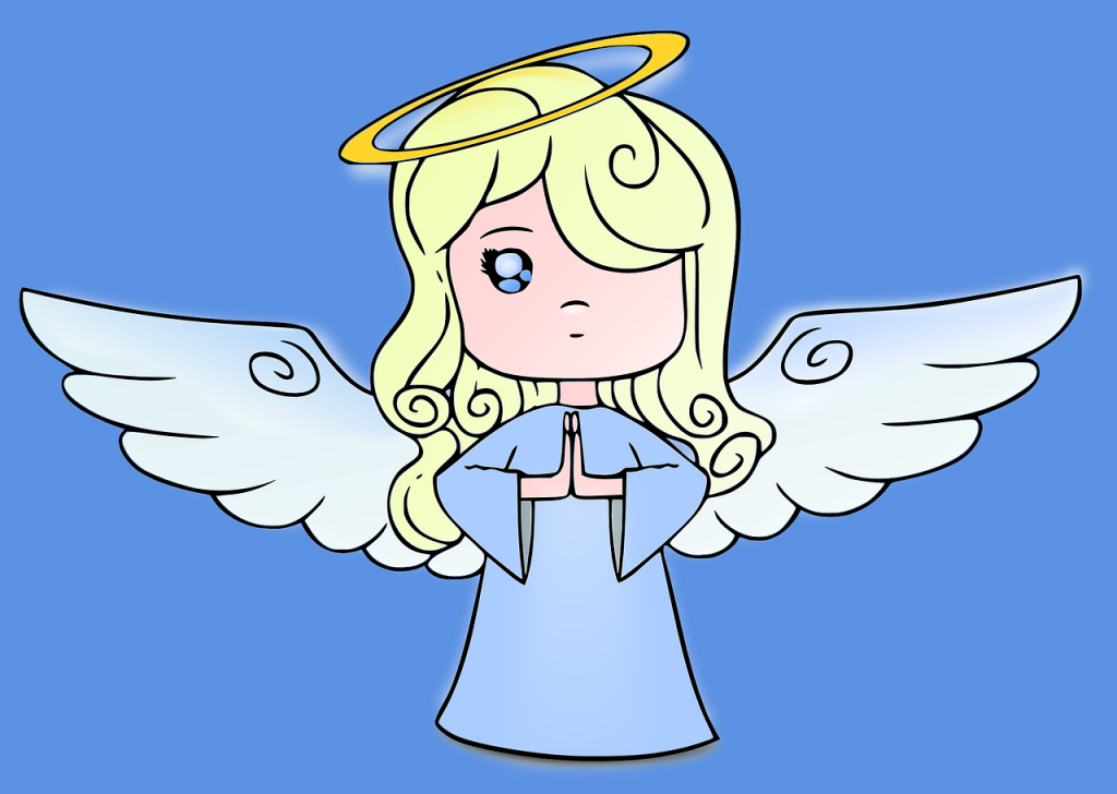 An angel with a halo