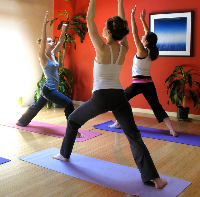Yoga participants